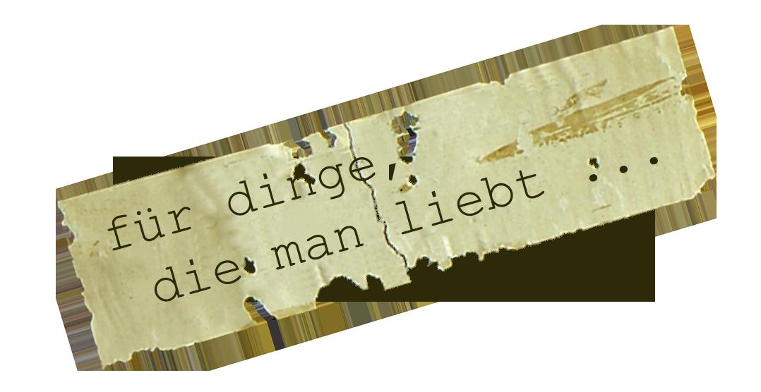 FUER DINGE DIE MAN LIEBT